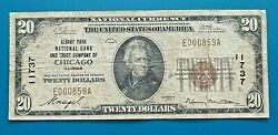 1929 20 Albany Park National Bank And Trust Co Chicago Il Ch 11737 S/n E000859a