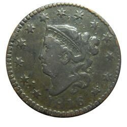 Large Cent/penny 1816 Newcomb 1 Higher Grade Ground Recovery