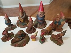 Lot Of 11 Signed Tom Clark Gnomes In Wonderful