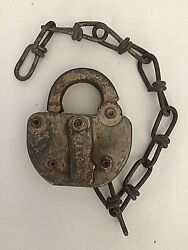 Adlake Cmstp And P Railroad Lock And Chain 77 Vintage