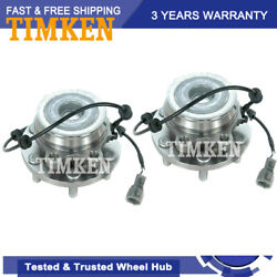 Timkenfront Wheel Hub Bearing Assembly For 05-15 Nissan Frontier Xterra Rwd Pair