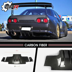 For Nissan R32 Gtr Ts2-style Carbon Fiber Rear Diffuser W/ Metal Fitting Parts