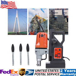 Md40 110v Magnetic Drill Press 1-1/2 Boring 2700 Lbs Magnet Force Tapping 1100w