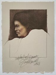 Frank Howell Lithograph First Woman 1981 Hand Signed