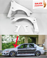 New 4pcs Gt Vented Front Fender Aero Part For Mitsubishi Evo 8 9 Vs-style Frp