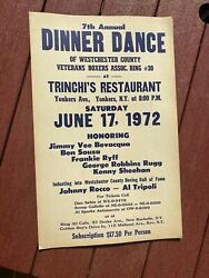 Westchester County Yonkers Ny Boxing Poster Dinner Dance . 1972