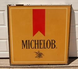 Large Michelob Beer Plexiglass Outdoor Advertising Sign, 50 W X 49 Tall X 2 D