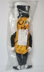 Mr. Peanut By Planters Peanuts Advertising Plush Doll Vintage - New In Packaging