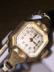 Vintage Gold Fd Antique Bulova Ladies Watch Glass Is In Good Condition