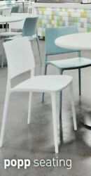 12 New Papatya Stacking Joy-s Chair White Indoor Outdoor Commercial Chairs Lot