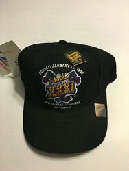 Vtg 1997 Super Bowl Xxxi 31 Hat Nfl Patriots Packers Strap Back With Pin