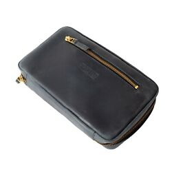 Leather Cigar Travel Case With Cedar Wood Removable Tray