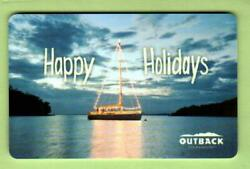 Outback Steakhouse Happy Holidays, Sailboat 2011 Gift Card 0