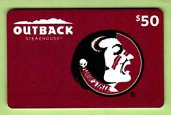 Outback Steakhouse Florida State Seminoles 2012 Gift Card 0