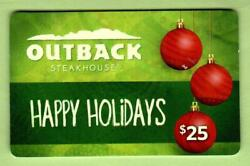 Outback Steakhouse Happy Holidays, Christmas Ornaments 2012 Gift Card 0