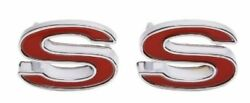 Trim Parts Front Fender Ss Emblem Red 1969-1972 Chevy Camaro Made In The Usa