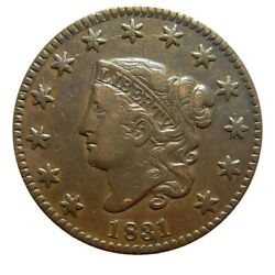 Large Cent/penny 1831 Newcomb 11 Choice High Grade Medium Letters