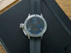 U-boat Classico Sommerso Blue Automatic Watch Black 46 Mm 9014/rb