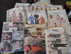 Vintage Vogue And Mccall's Patterns