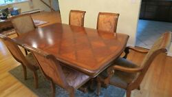 Ethan Allen Luxury Dining Table And Chairs