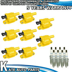 Acdelco Double Platinum Spark Plug And Racing Ignition Coil For Chevrolet 4.8l V8