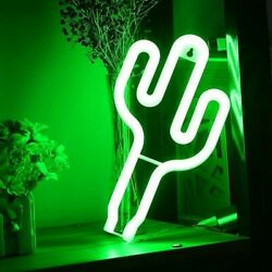 Neon Cactus Light Sign Led Decoration Nigh Lights Children Bedroom Gifts Holiday