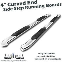 2015-2020 Chevy Colorado Extended Cab Chrome Curved End Nerf Bar Runnning Boards
