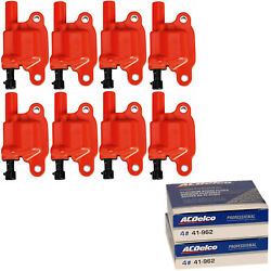 Acdelco Double Platinum Spark Plug And Performance Ignition Coil Set For Chevrolet
