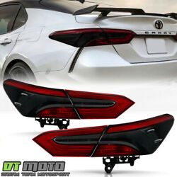 For 2018 2019 2020 Toyota Camry Red Smoke Tail Lights Brake Lamps Left+right 4pc