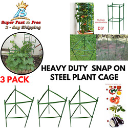 3 Pack Tomato Plant Cage Garden Steel Stakes Trellis Climbing Plant Support 2 Ft