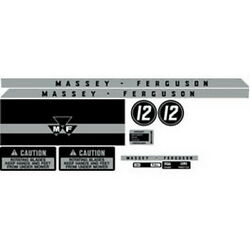 Mf12 Massey Ferguson Lawn Tractor Complete Decal Set Mf 12 High Quality 🎯