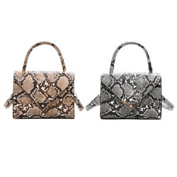 Ladies Snake Skin Shoulder Messenger Bag Women PU Leather Travel Totes Handbags $12.64