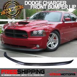 Fits 06-10 Dodge Charger Oe Style Front Bumper Lip Splitter - Unpainted Pu