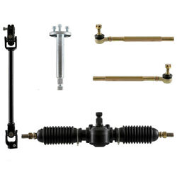 Go Kart Atv Utv Buggy 320mm Steering Gear Rack Pinion U Joint Tie Rod