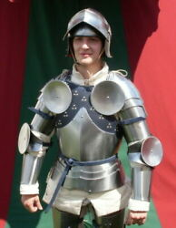 Hmb Medieval Knight Combat Lady Full Suit Of Armor