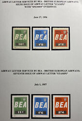 Air Letter Service By Bea 6th Issue Of Airway Letter Stamps 1956 Collection Lot