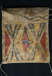 Native American Raw Hide Container - Crow - 19th C.