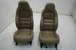 05-06 Chevrolet Corvette Right Driver Front Seat Bucket Leather Electric Tan