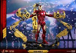 Hot Toys 1/6 Scale Iron Man 2 Diecast Figure Mk4 Mark Iv With Suit-up Gantry New
