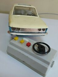 Vintage Fiat 124 Toy Car Germany Piko Anker Battery Operated Remote For Parts