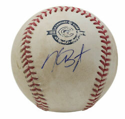 Kris Bryant Chicago Cubs Autographed Game Used Baseball At Wrigley Field 8/31/16