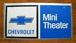 1970s Chevrolet Mini Theater Gm Chevy Dealership Advertising Sign Gas Oil Auto