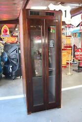 1950-60and039s Original Wood Telephone Booth