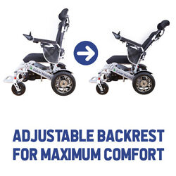 Electric Wheelchair - Ultra Lightweight 49 Lbs, 17.5 Wide Seat, Foldable Travel