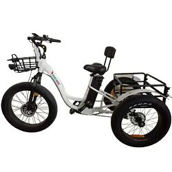 Electric Fat Tire Tricycle/trike 500w 48v Hybrid Bicycle/e-bike With Lithium