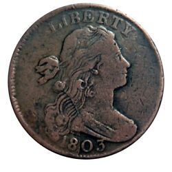 Large Cent/penny 1803 Sheldon 261 Die Cracked Obverse Collector Coin