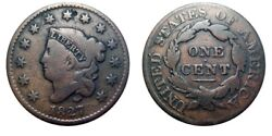 Large Cent/penny 1827 Newcomb 11 Mystery Die State