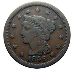 Large Cent/penny 1846 Small Date Original Collector Coin