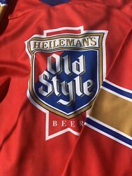 Vintage Heilemans Old Style Beer Jersey Xxxl 3xl Mens Colorful Big Football Huge