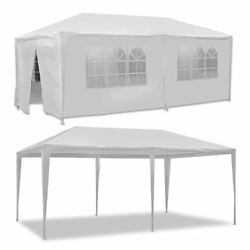 10' X 20' Canopy Party Wedding Tent Garden Bbq Tent Gazebo With 6 Walls Outdoor